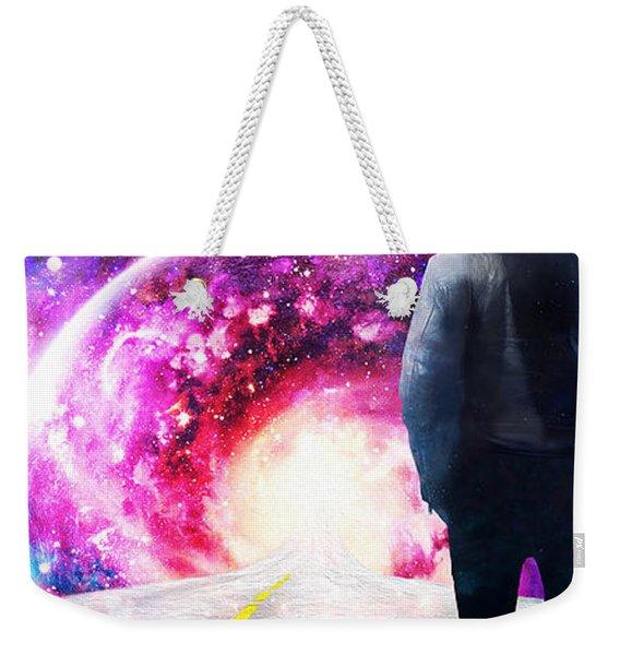 Cosmic Castaway Weekender Tote Bag