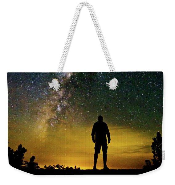 Cosmic Contemplation Weekender Tote Bag