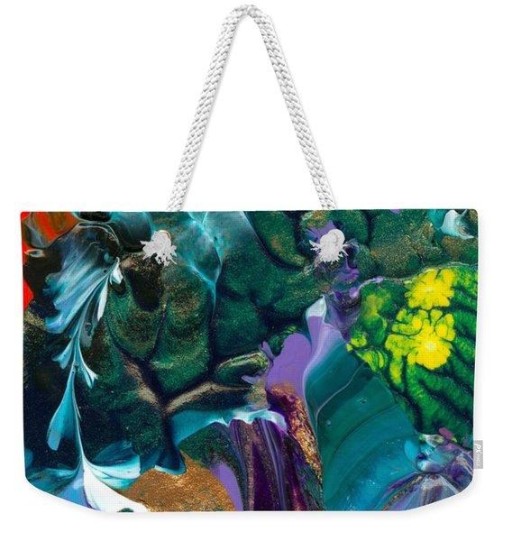 Cosmic Feathered Webbed Universe Weekender Tote Bag