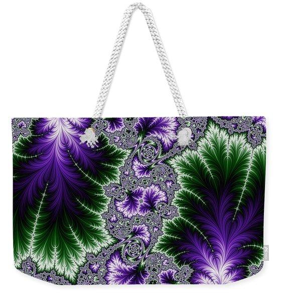 Cosmic Leaves Weekender Tote Bag