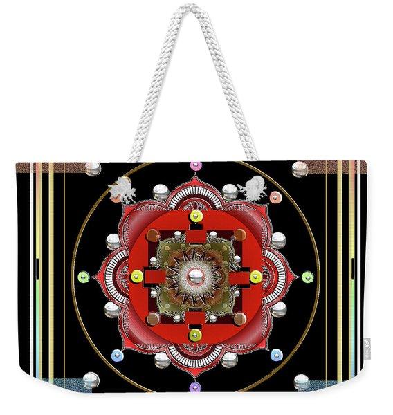 Cosmic Lotus Mandala Weekender Tote Bag