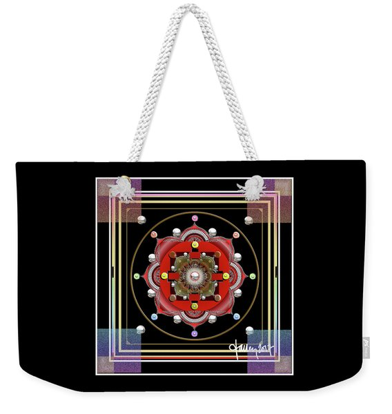 Cosmic Lotus Mandala Weekender Tote Bag