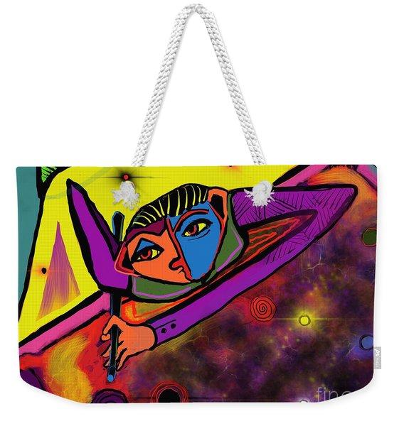 Cosmic Pool Weekender Tote Bag