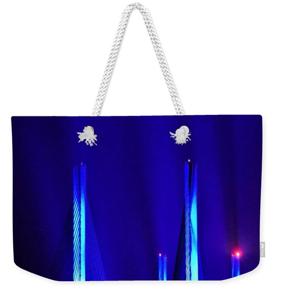 Blue Light Rays - Indian River Inlet Bridge Weekender Tote Bag
