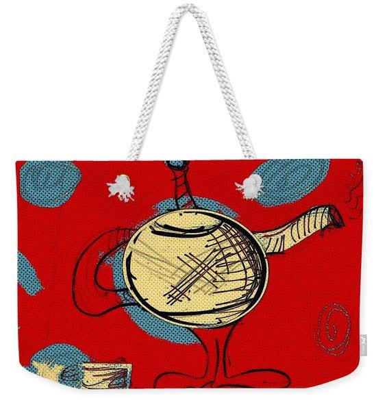 Cosmic Tea Time Weekender Tote Bag
