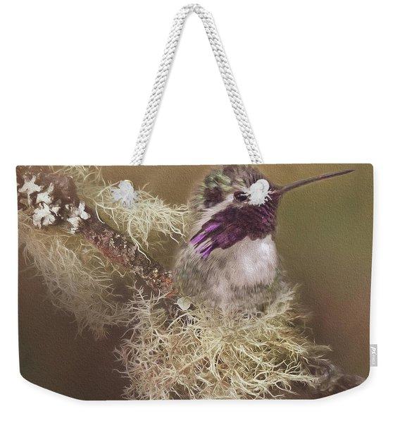 Costas Hummingbird Painted Weekender Tote Bag