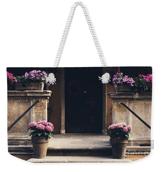 Cosy Entrance To An Old Tenement Building In Gdansk, Poland. Weekender Tote Bag