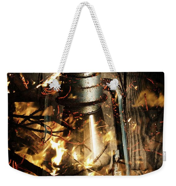 Cosy Open Fire. Cottage Artwork Weekender Tote Bag