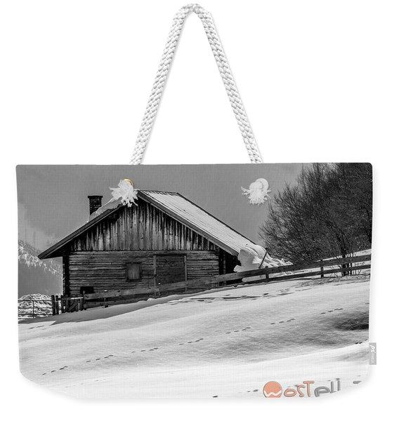 Cottage In Winter Weekender Tote Bag