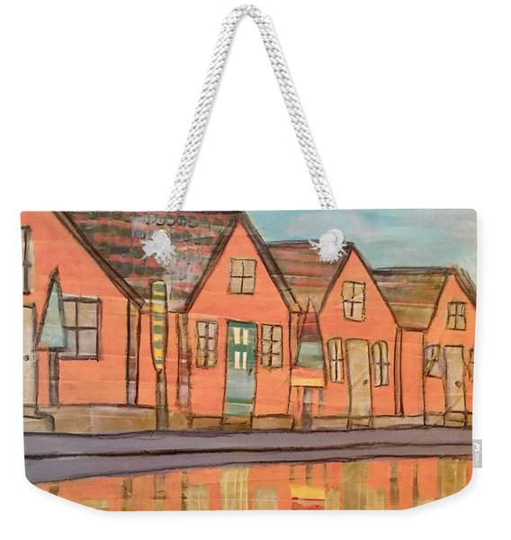 Cottages By The Beach Weekender Tote Bag