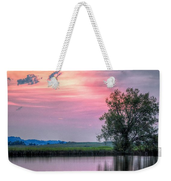 Cotton Candy Sunrise Weekender Tote Bag