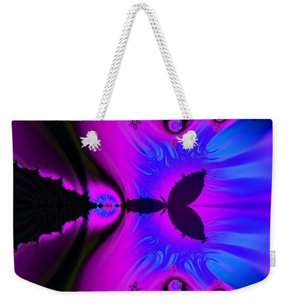 Cotton Candyland Fractal Weekender Tote Bag
