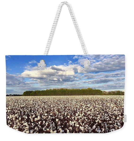 Cotton Field Weekender Tote Bag