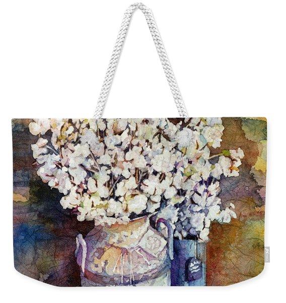 Cotton Stalks Weekender Tote Bag