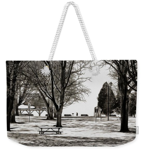 Couchiching Park In Pencil Weekender Tote Bag