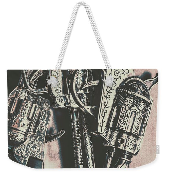 Country And Western Pistols Weekender Tote Bag
