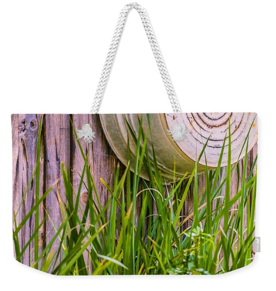 Weekender Tote Bag featuring the photograph Country Bath Tub by Carolyn Marshall