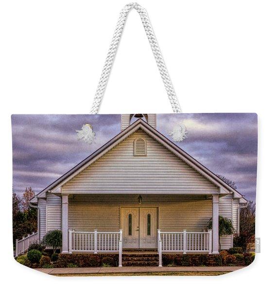 Country Church Weekender Tote Bag