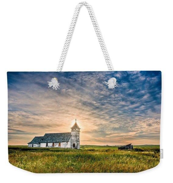 Country Church Sunrise Weekender Tote Bag