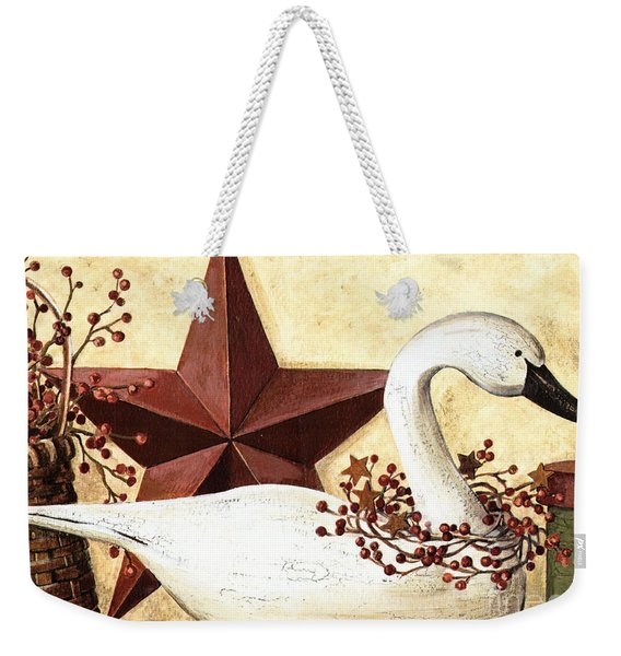 Weekender Tote Bag featuring the mixed media Country Flair #101 by Writermore Arts