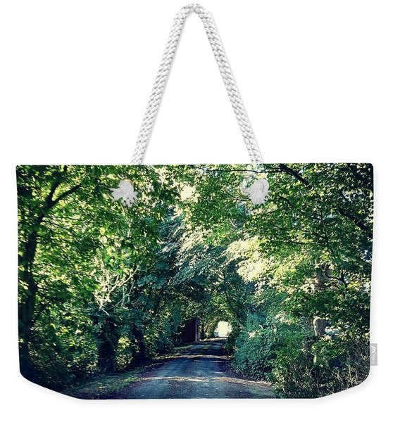 Country Lane, Tree Tunnel Weekender Tote Bag