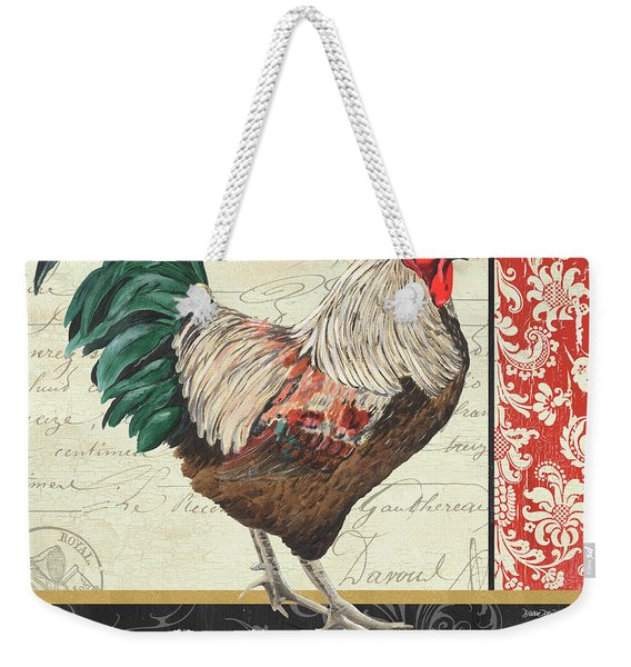 Country Rooster 1 Weekender Tote Bag