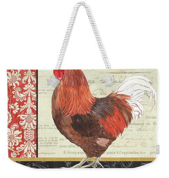 Country Rooster 2 Weekender Tote Bag