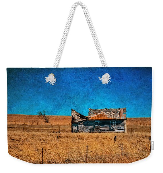 Countryside Abandoned House Weekender Tote Bag