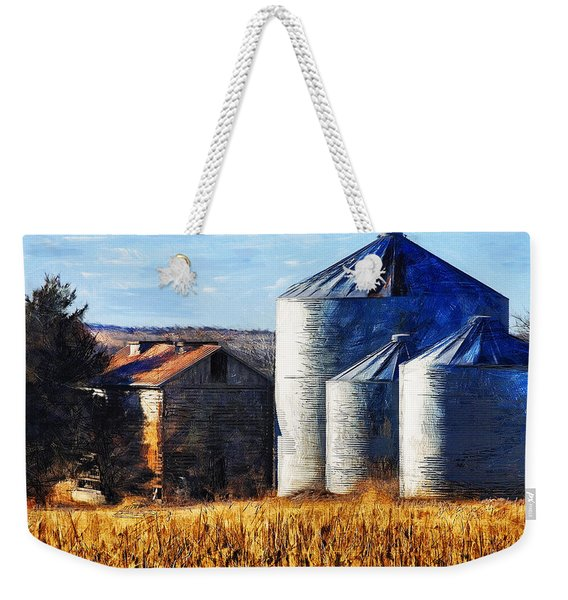 Countryside Old Barn And Silos Weekender Tote Bag