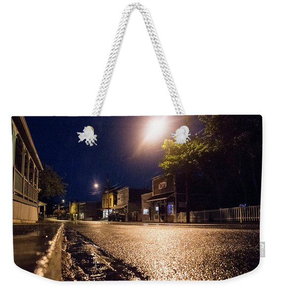 Coupeville On A Rainy Night Weekender Tote Bag
