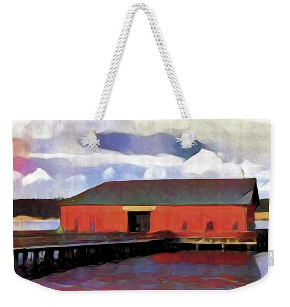 Coupeville Wharf Painterly Effect Weekender Tote Bag