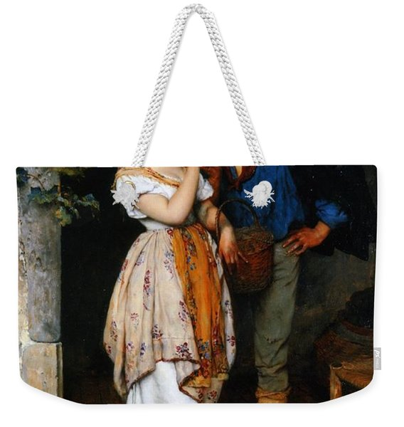 Couple Courting Weekender Tote Bag