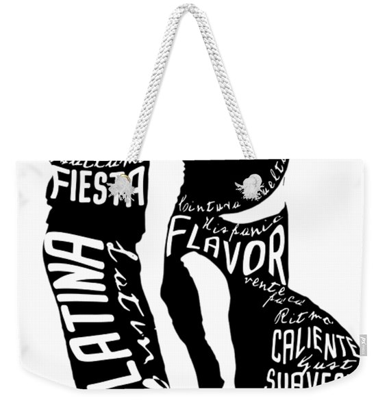 Couple Dancing Latin Music Weekender Tote Bag