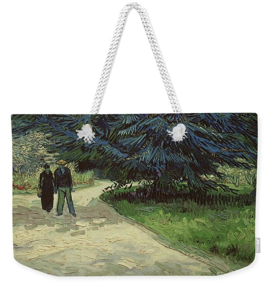 Couple In The Park Weekender Tote Bag