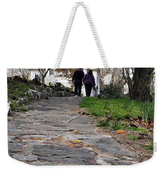Couple On A Garden Path Weekender Tote Bag