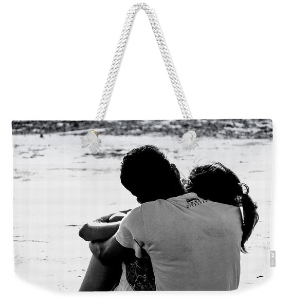 Couple On Beach Weekender Tote Bag