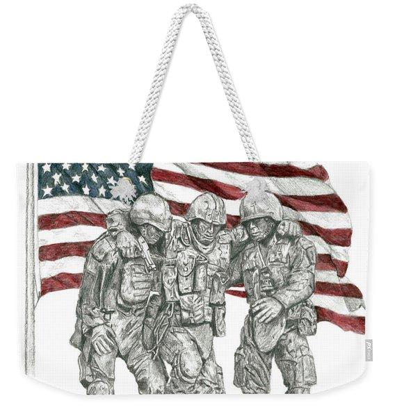 Courage In Brotherhood Weekender Tote Bag