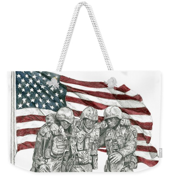 Courage In Brotherhood Weekender Tote Bag