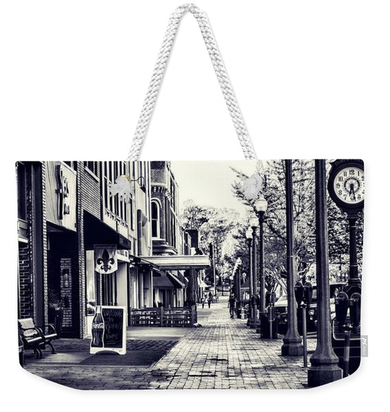 Court Street Clock Florence Alabama Weekender Tote Bag