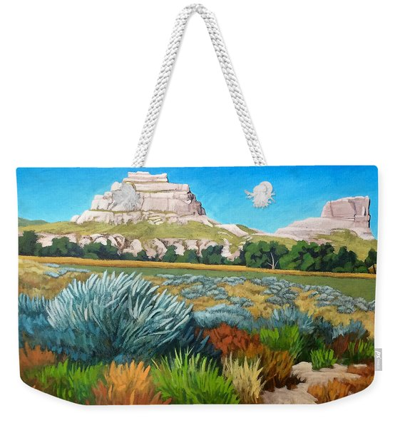Courthouse And Jail Rocks Acrylic Weekender Tote Bag