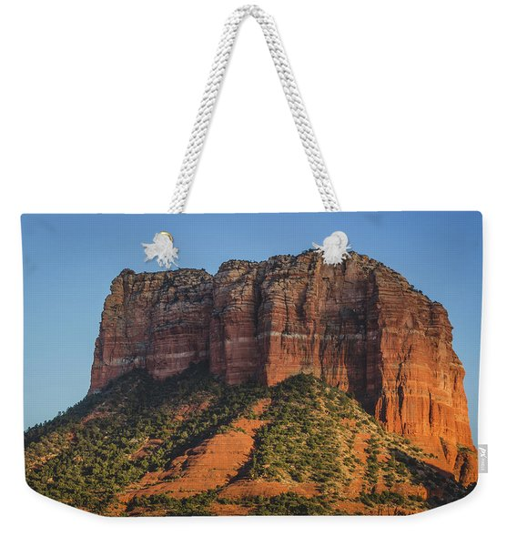Courthouse Butte At Sunset Weekender Tote Bag