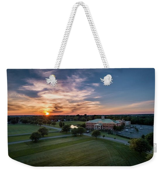 Courthouse Sunset Weekender Tote Bag