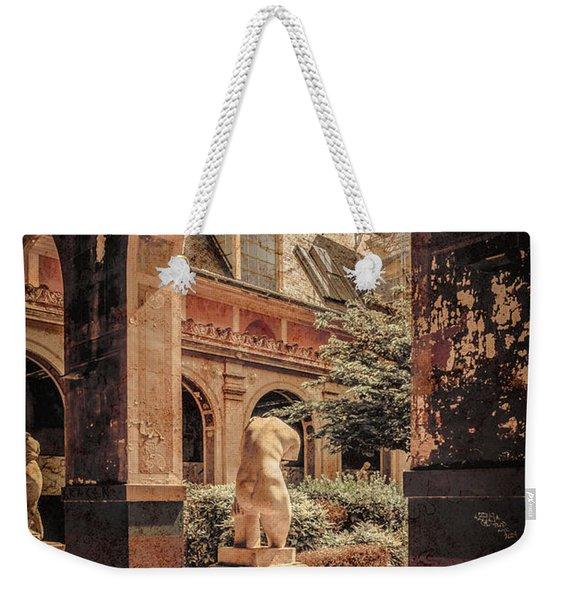 Paris, France - Courtyard East - L'ecole Des Beaux-arts Weekender Tote Bag