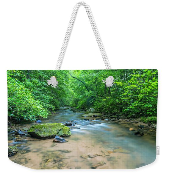 Weekender Tote Bag featuring the photograph Cove Creek Panorama by Ranjay Mitra