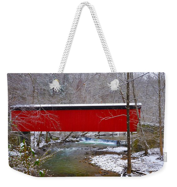 Covered Bridge Along The Wissahickon Creek Weekender Tote Bag