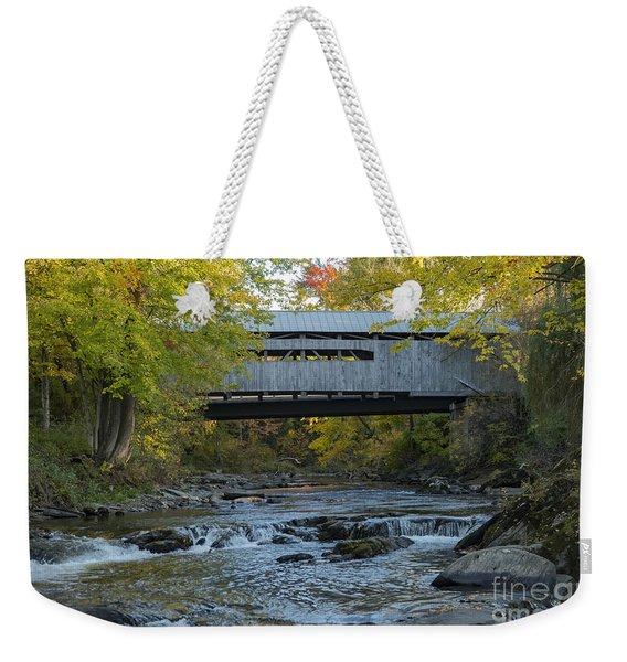 Covered Bridge Over Brown River Weekender Tote Bag
