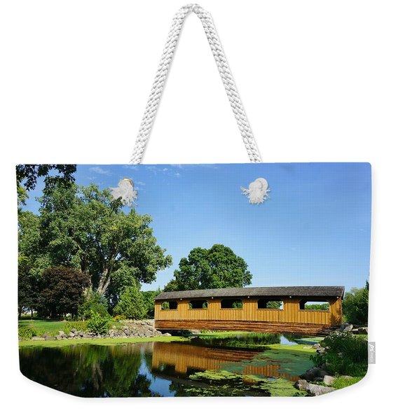 Covered Brige Lakeside Park  Weekender Tote Bag