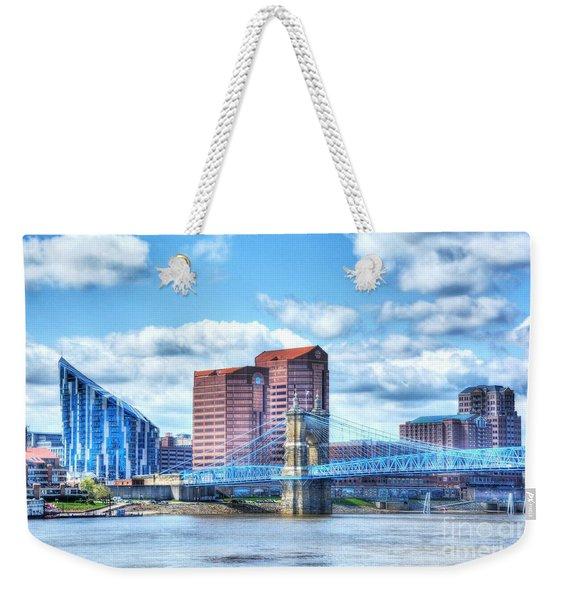 Covington Kentucky Skyline Weekender Tote Bag