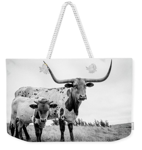 Cow And Calf In The Pasture Weekender Tote Bag