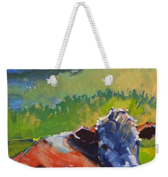 Cow Lying Down On A Sunny Day Weekender Tote Bag